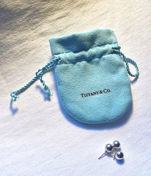 Tiffany & CO 8mm Silver Earrings with one extra for Sale in NY, US