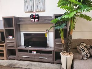 Entertainment Center for 70in TVs, Distressed Grey for Sale in Huntington Beach, CA