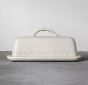 New Hearth and Hand With Magnolia Cream Stoneware Butter Dish Joanna Gaines Rare for Sale in Westminster, CA