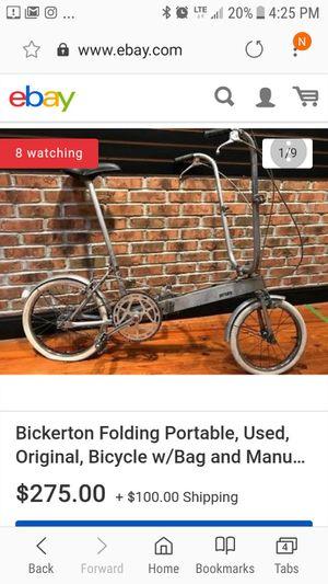Bickerton Folding bike Original for Sale in Philadelphia, PA