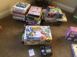 Puzzles and games ($5- 12 each depending on item)all puzzles are new games have all pieces for Sale in Lakeside, CA