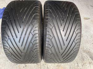 Two tires 285/40/19 Yokohama Advan Sport with 80% left mint for Sale in Miami, FL