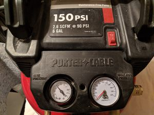 Porter Cable Pancake Compressor Model# C2002 150psi 6 gallon. maintenance free. Two outlets. Excellent condition. $95 for Sale in Las Vegas, NV