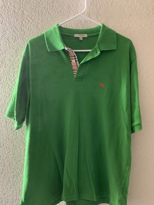 Green London Burberry polo TShirt for Sale in Las Vegas, NV