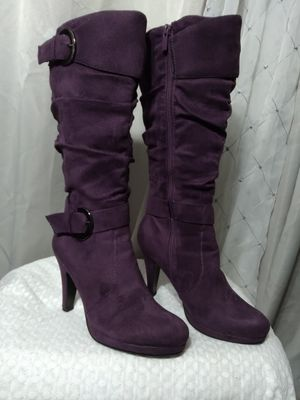 Suede Purple Boots 6 1/2 for Sale in Federal Way, WA