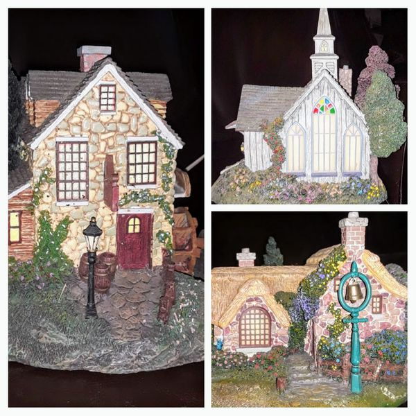 Thomas Kincaid Hawthorne Village 3 Sculpture Lot