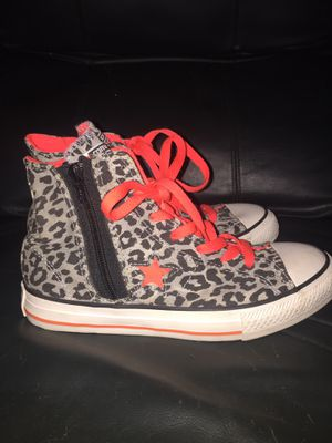 cheetah print converse high tops for Sale in Clearwater, FL