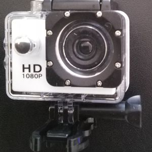 1080 HD White Sports Action Camera for Sale in Oklahoma City, OK