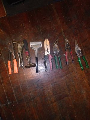 Sheet metal tools American made(trade on cordless drill set) for Sale in Roanoke, VA