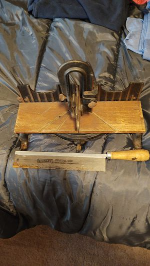 Antique saw holder and Dovetail saw. for Sale in Exeter, NH