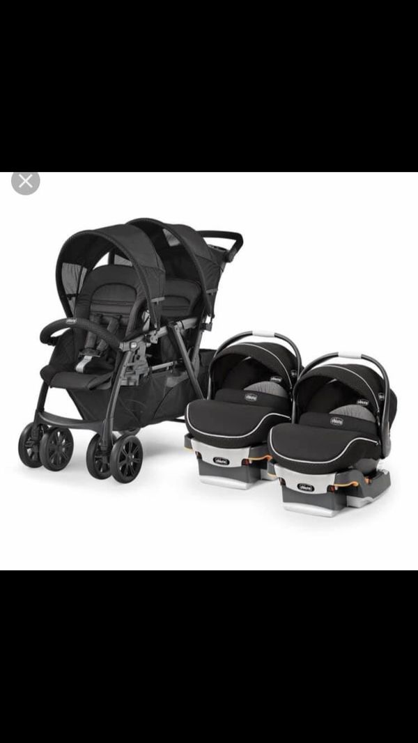 Chicco double stroller car seats twins