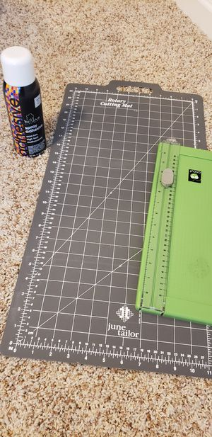 Cutting Mat, Cricut Paper Cutter and Spray Adhesive for Sale in Elon, NC