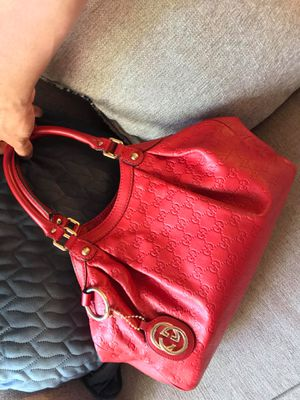 Gucci Sukey Red Leather Shoulder Bag for Sale in Phoenix, AZ