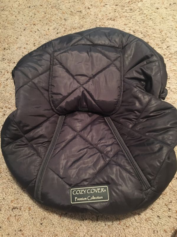 Cozy cover car seat cover, head support pillow