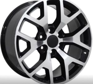 "24"" GMC Snowflake Wheel Package REPLICA GMC 24x10 RIms Machine Black Package Including Tires ... for Sale in La Habra, CA"