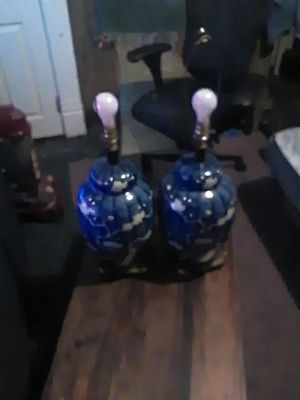 Side of lamps very good both of them for Sale in Lancaster, OH