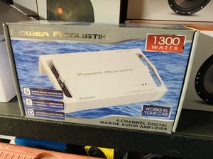Power Acoustik 1,300 Marine 4 Ch. Amp for Sale in San Bernardino, CA