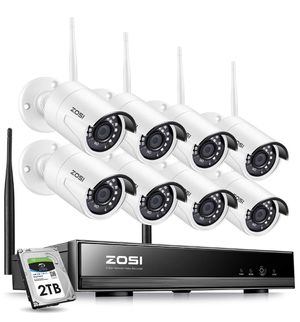 Zosi wireless security system 1080p 8 cameras 2Tb for Sale in Kent, WA