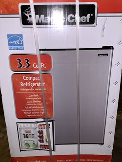 Magic Chef 3.3 cu. ft. Mini Fridge in Stainless Look BRAND NEW on sale for Sale in Arlington,  TX