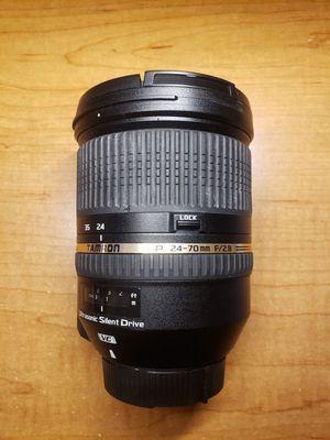 Tamron SP 24-70mm F2.8 Di VC lens for Nikon for Sale in Buffalo Grove, IL
