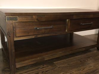 Solid Walnut Coffee Table with Drawers for Storage! for Sale in Brooklyn,  NY