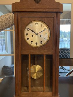 Antique Chiming Key-wound Wall Clock for Sale in West Linn,  OR