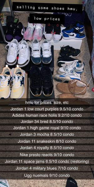 Jordans, human races, Nike's for the low, READ DESC for Sale in OH, US