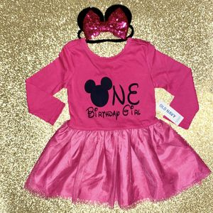 12-18 Months Minnie Mouse Dress & Sequin Bow Headband Ears for Sale in Long Beach, CA