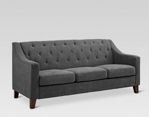 Felton Tufted Grey Couch for Sale in Fort Erie, ON