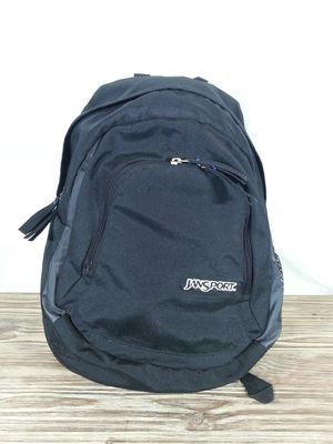 JanSport backpack great shape dark black with headphone accessory pocket for Sale in Kalama, WA