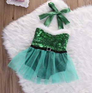 Baby Christmas outfit Green Santa Romper for Sale in Chula Vista, CA