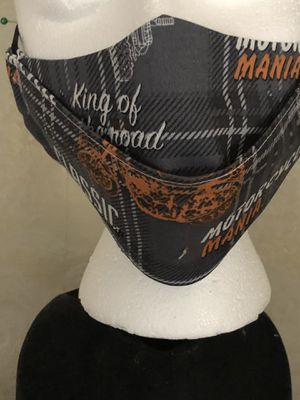 Motorcycle fabric print masks for Sale in Ludlow, MA