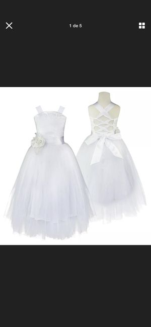 US Floral Princess Dress Girl Kid Wedding Bridesmaid Party Prom Gown Formal Maxi for Sale in Kissimmee, FL
