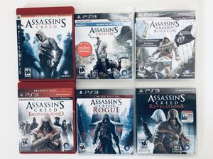 PS3 Video Games Assassin's Creed Collection for Sale in Fuquay-Varina, NC