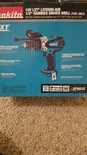 Makita 18-Volt LXT Lithium-Ion 1/2 in. Cordless Hammer Driver/Drill (Tool-Only) for Sale in Bakersfield, CA