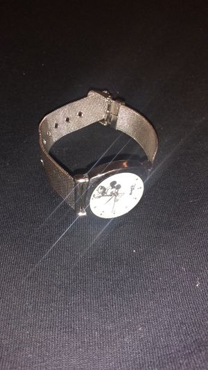 Authentic Silver Walt Disney Mickey mouse watch for Sale in McKeesport, PA