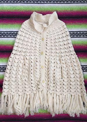 Size Small / Medium • Vintage Fringe Crochet Cape for Sale in Chicago, IL