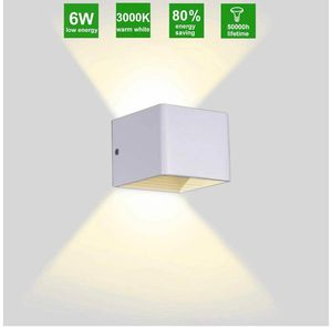 Up Down Wall Light Square Modern Wall Sconces Indoor White Up Down Light Wall Mounted Lamp Cube LED Wall Light Fixture Interio for Sale in Rancho Cucamonga, CA