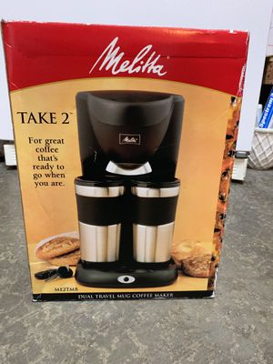 Melitta Take 2 Coffee Maker for Sale in Tacoma, WA