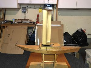 Model Sailboat Hand Built With Stand for Sale in San Jose, CA