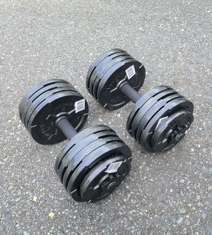 100lbs adjustable dumbbell set for Sale in Bothell, WA