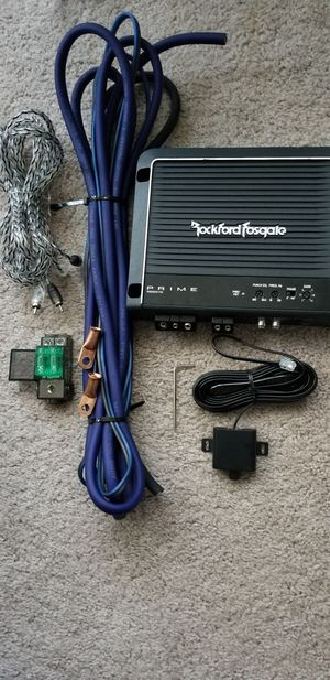 Rockford Fostgate 500.1amp and Skyhigh Car Audio wire kit for Sale in Midlothian, VA