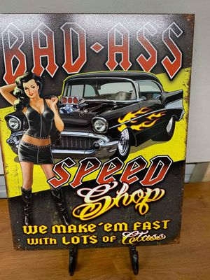 Speed shop tin sign for Sale in Lakeland, FL