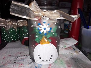 Hand Painted Holiday Big Jars! for Sale in Winchendon, MA