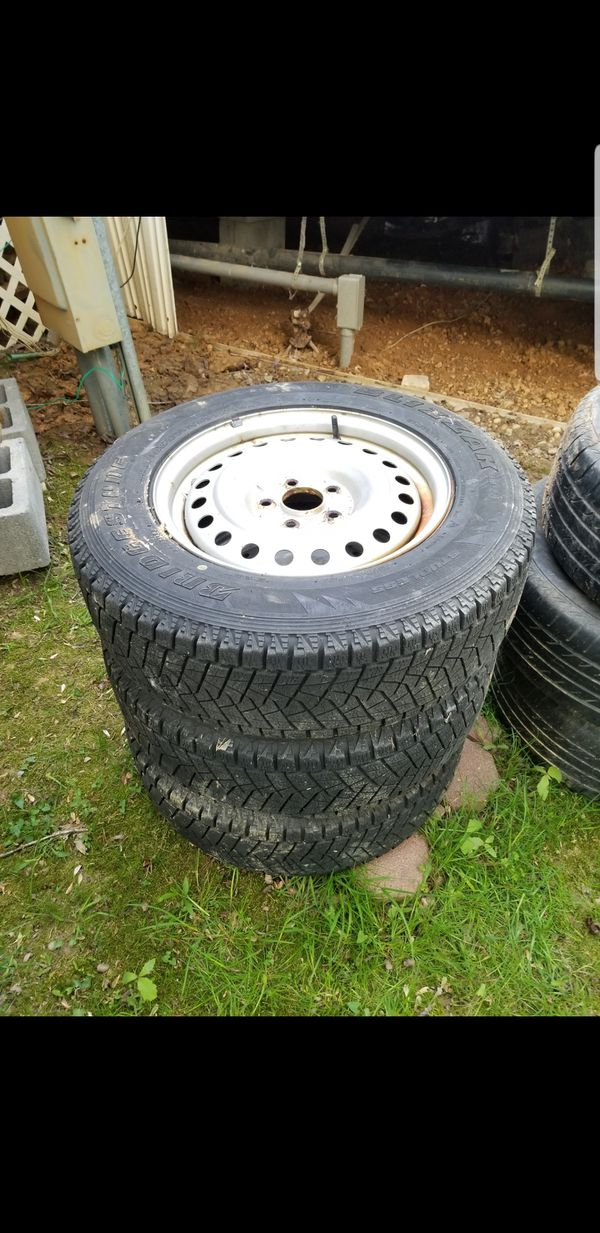 Winter tires with rims $85 or best offer