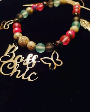 Boss Chic Beaded Charm Bracelet for Sale in Florissant, MO