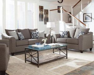 (JUST $54 DOWN) Brand New Modern Sofa and Love Seat Set with pillows (Financing and Delivery available) for Sale in Carrollton, TX