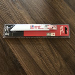 "Milwaukee 6"" 18 TPI Sawzall Reciprocating Saw Blades (48-00-5184) 5pk for Sale in Hayward, CA"