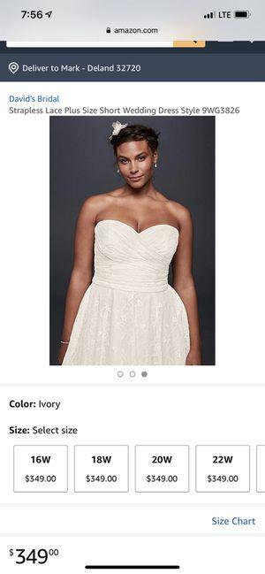 Plus size wedding dress for Sale in Williamston, NC