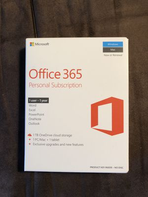 Microsoft Office 365 Personal Subscription for Sale in Federal Way, WA